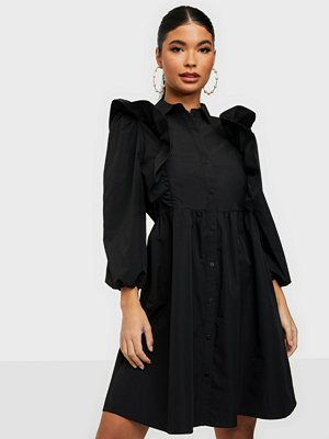Vero Moda VMCARMELLA 7/8 RUFFLE SHIRT DRESS F