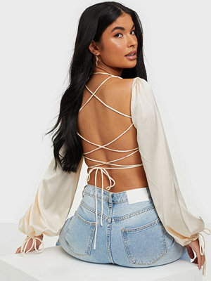 Kiss The Sky Cross Back Top Satin