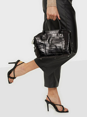 NuNoo svart mönstrad väska Small Bobby Croco