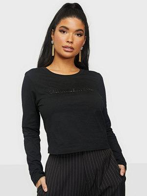 Calvin Klein Jeans SHINY INST LS CROP TEE