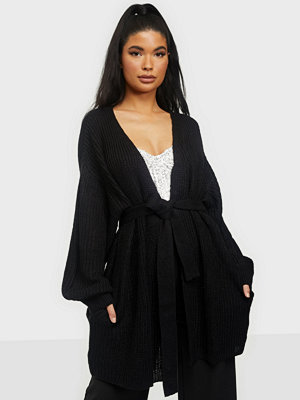 Missguided Oversized Belted Balloon Sleeve Cardigan