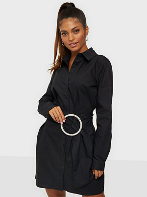 Missguided Diamante Belted Shirt Dress