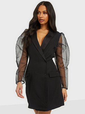 Missguided Organza Sleeve Blazer Dress