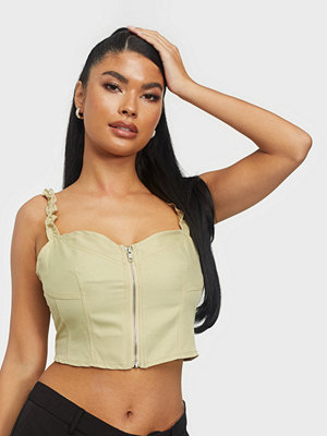 Missguided Zip Through Elasticated Top