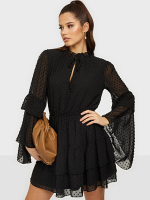 Missguided Flutter Smock Dress Dobby