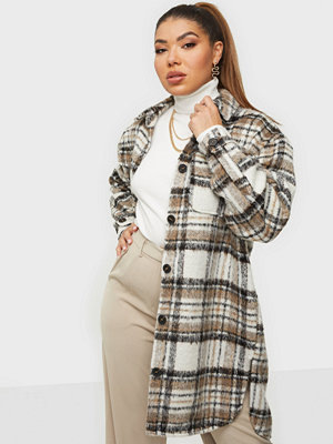Only ONLSTORMY L/S LONG CHECK SHACKET PN