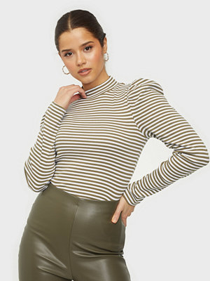 Pieces PCANNA THIN STRIPED LS T-NECK TOP D