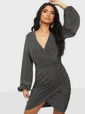 Vero Moda VMGLAMOUR L/S V-NECK DRESS EXP