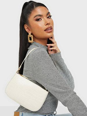 Missguided vit väska Croc Shoulder Bag