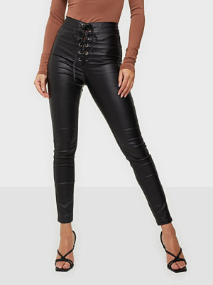 Missguided Coated Corset Detail Jeans