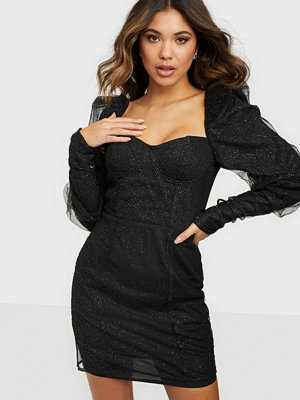Festklänningar - Glamorous Long Sleeve Mini Dress