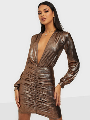 NLY One Shimmer Plunge Dress