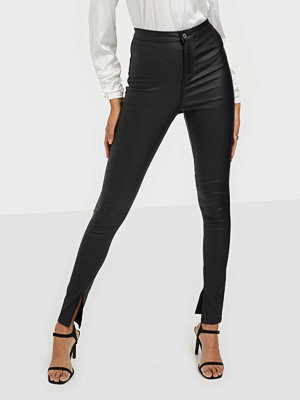 Missguided Split Hem Coated Jeans