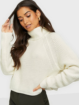 Missguided Roll Neck Batwing Crop Jumper