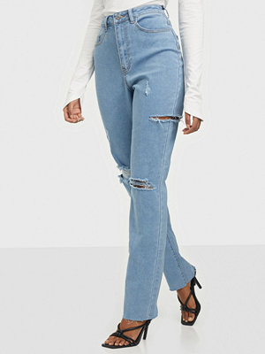 Missguided Tight Rip Slim Straight Stretch Jeans