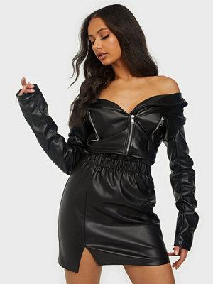 Kjolar - NLY Trend Elastic Waist PU Skirt