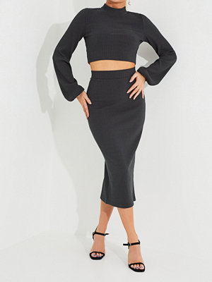 NLY Trend Cropped Rib Skirt Set