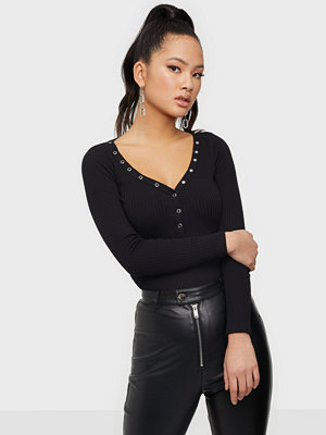 Toppar - NLY Trend Extra Button Rib Top
