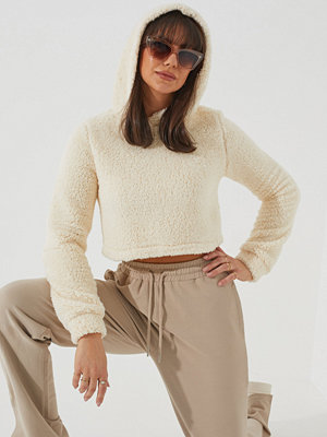 NLY Trend Teddy Cropped Hoodie