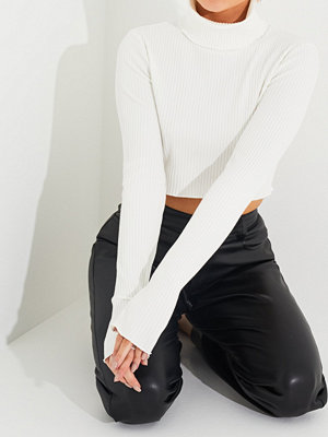 Toppar - NLY Trend Rib Polo Cropped Top