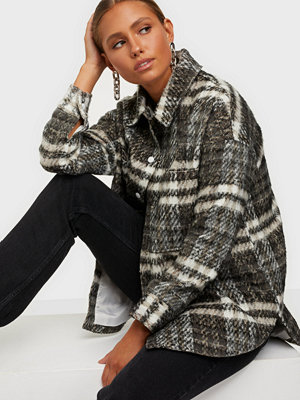 Missguided Bruched Checked Shacket