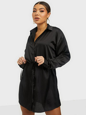 Missguided Oversized Self Tie Shirt Dress
