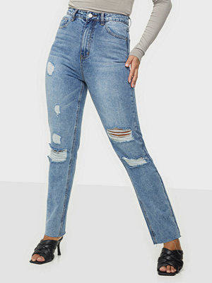 Missguided Slim Straight Distressed