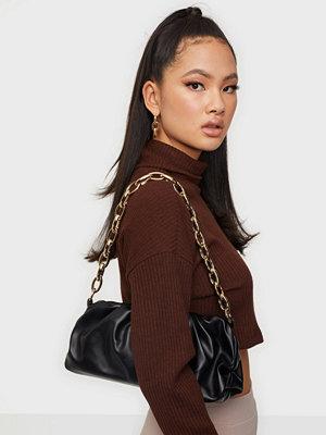 Glamorous svart väska Chunky Chain Bag
