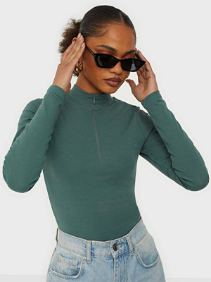Toppar - NLY Trend LS Sporty Zip Top