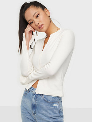 Toppar - NLY Trend Zipped Up Rib Top