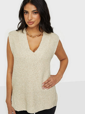 Tröjor - Selected Femme SLFHELENA KNIT VEST V-NECK B