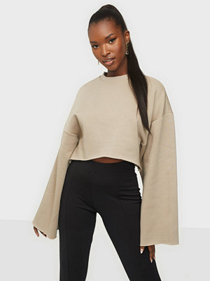 Tröjor - NLY Trend Wide Sleeve Cropped Sweat