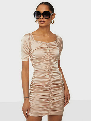 Parisian Rouch Front Bardot Mini Dress