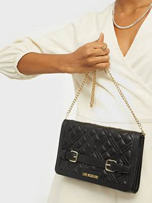 Love Moschino svart väska EVENING BAG