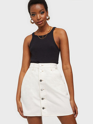 Kjolar - Tommy Jeans A-LINE SHORT DENIM SKIRT SSPWR