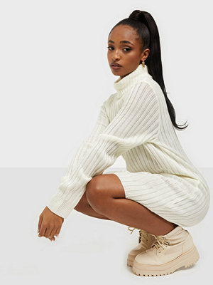 Parisian Rib Knit Roll Neck Jumper Dress