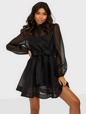 Missguided Organza Shirt Dress