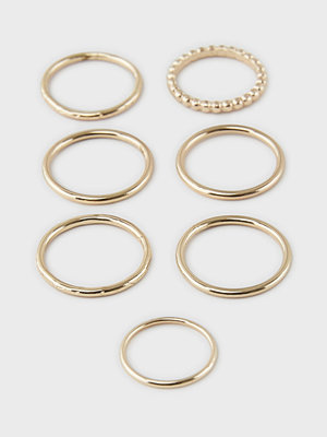 Pieces smycke PCJOWA 7-PACK RINGS D2D
