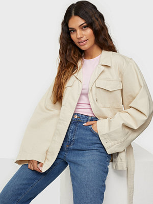 Selected Femme SLFSTUDIOS CREME WHITE DENIM JACKET