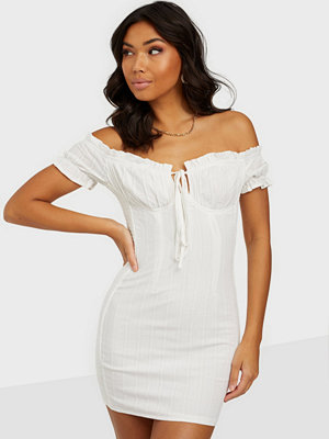 Kiss The Sky Liv Peasant Bodycon Dress