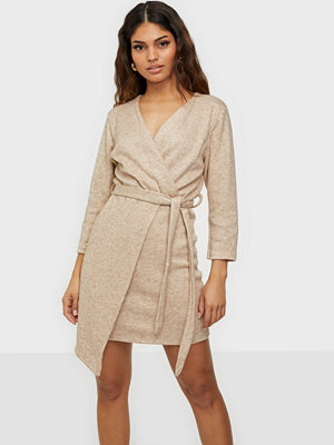 Parisian Asymmetric Knitted Dress With Belt