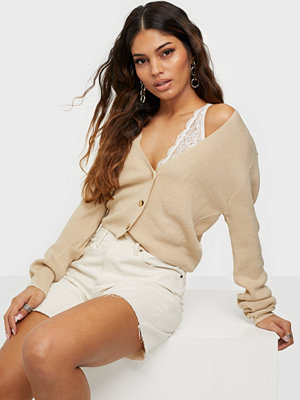 Missguided Skinny Rib Crop Cardigan