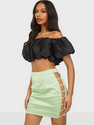 Kjolar - Missguided Button Down Side Mini Skirt
