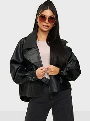 Missguided Balloon Sleeve Buckle Biker