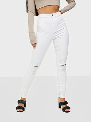 Missguided Vice Highwaisted Slash Knee Skinny Jeans