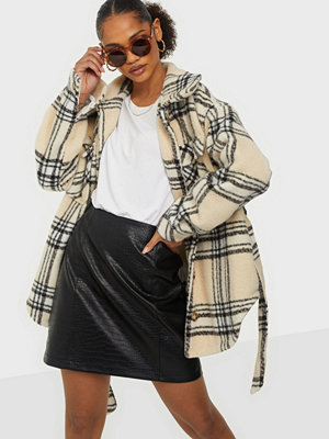 Missguided Check Belted Shacket