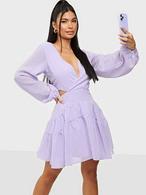 Bardot Cut Out Frill Dress