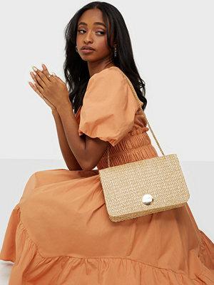Glamorous omönstrad väska Paper Straw Bag