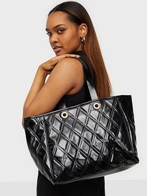 Glamorous svart väska Qulited Tote Bag