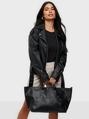 Glamorous svart väska Large Woven Tote Bag